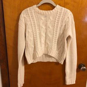 Lucca Couture- Cream Cable Knit Sweater- Medium